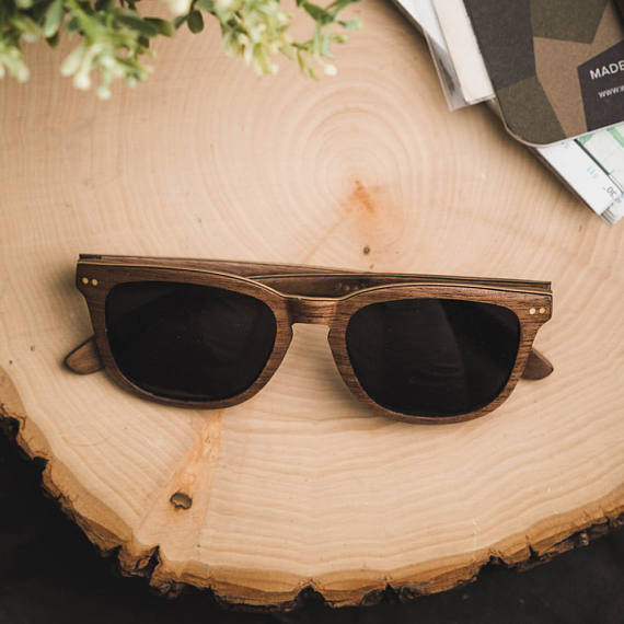 Walnut and Maple Wood Polarized Sunglasses by tmbrwood