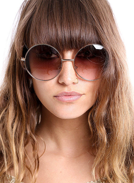 Large Round Frame Sunglasses by MamaVava.