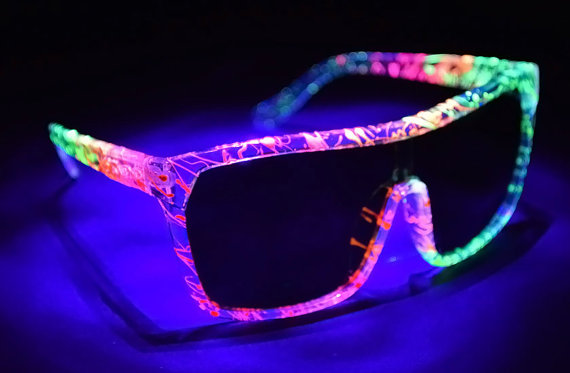 Fantastic Glow in the Dark Paint Sunglasses by StoopidShades