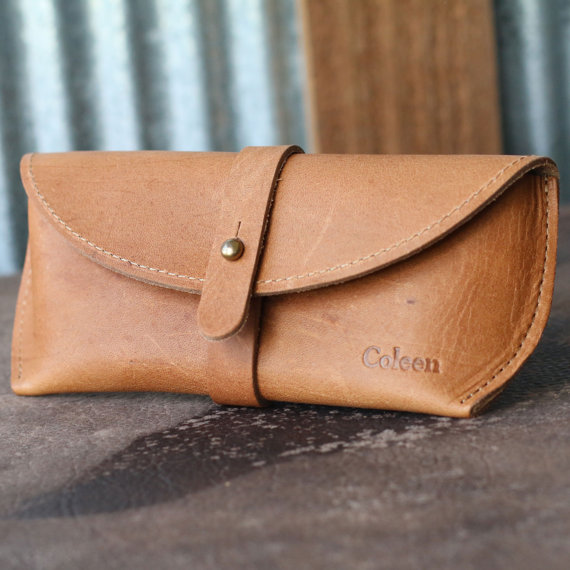 Personalized Sunglass Case by HoltzLeather