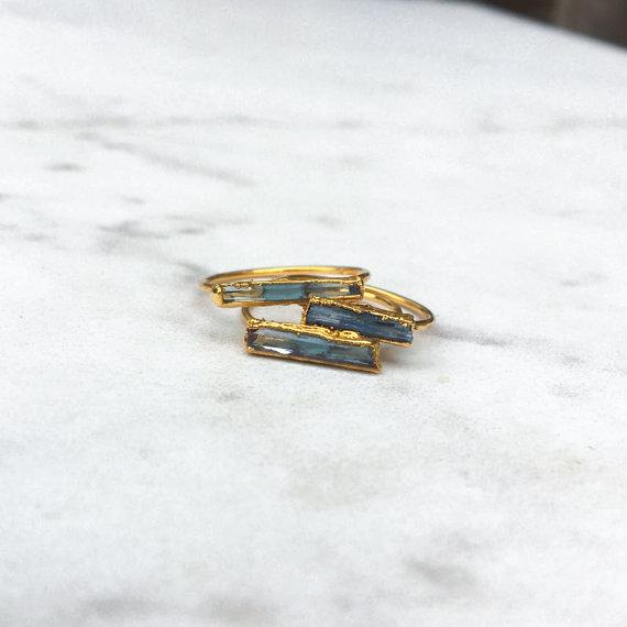 Beautiful Raw Crystal Gold Ring by Ringcrush