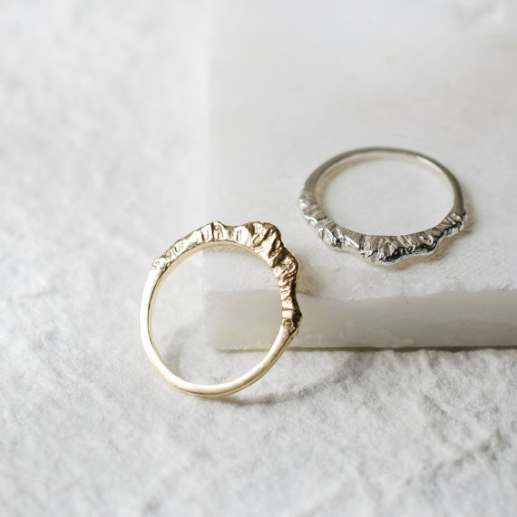 Silver Mountain Ring by Everlijewelry
