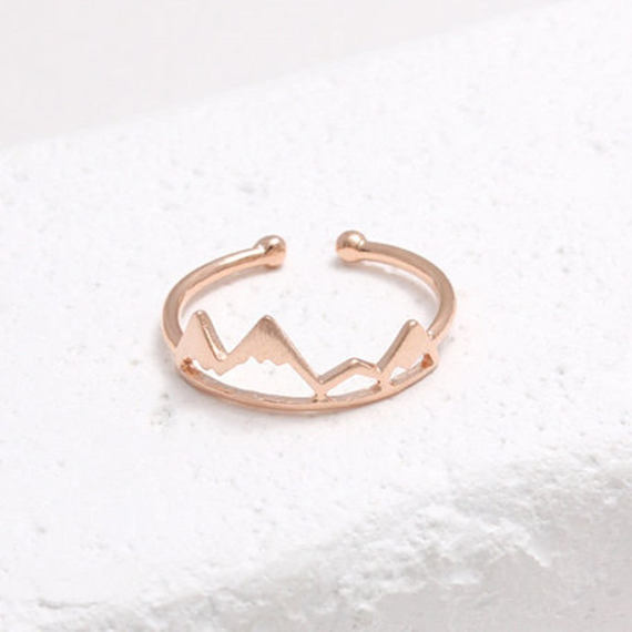 Mountain Shaped Ring by 3rdTimeCharms