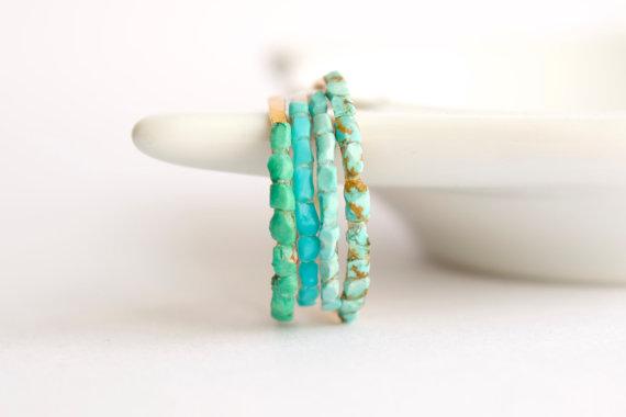 Multistoned Turquoise Ring by CharmStoneEstonia