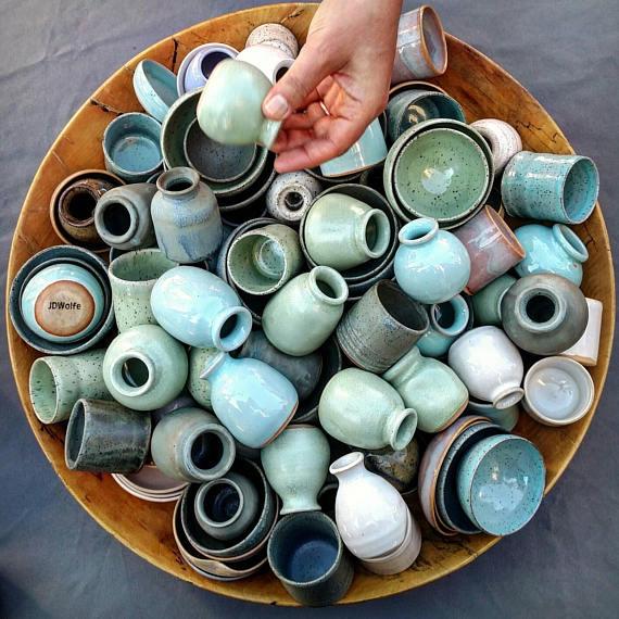 3 Handmade Miniature Pots by JDWolfePottery