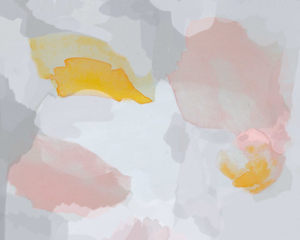 Gray and Pink Abstract Art Print