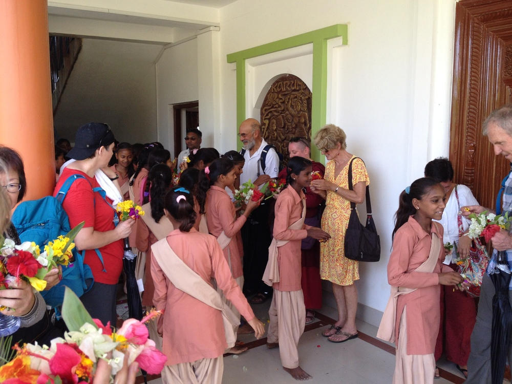 KCG students welcome their guests.JPG