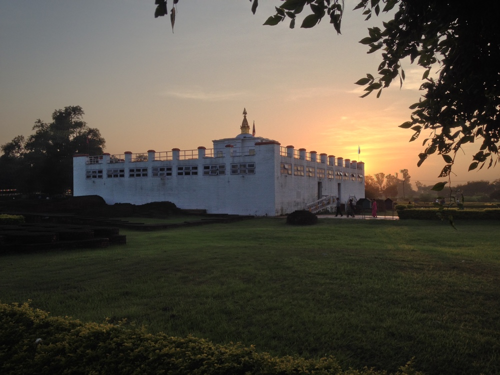 Maya Devi Temple Lumbini at twilight.JPG