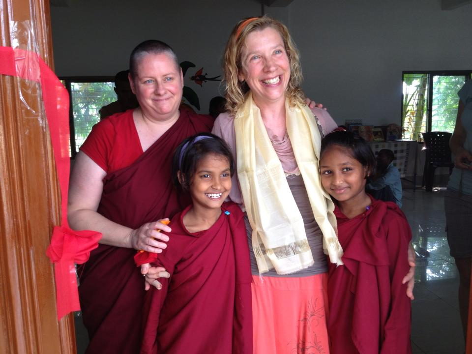 With Bodhi & Littlest nuns at Library.jpg