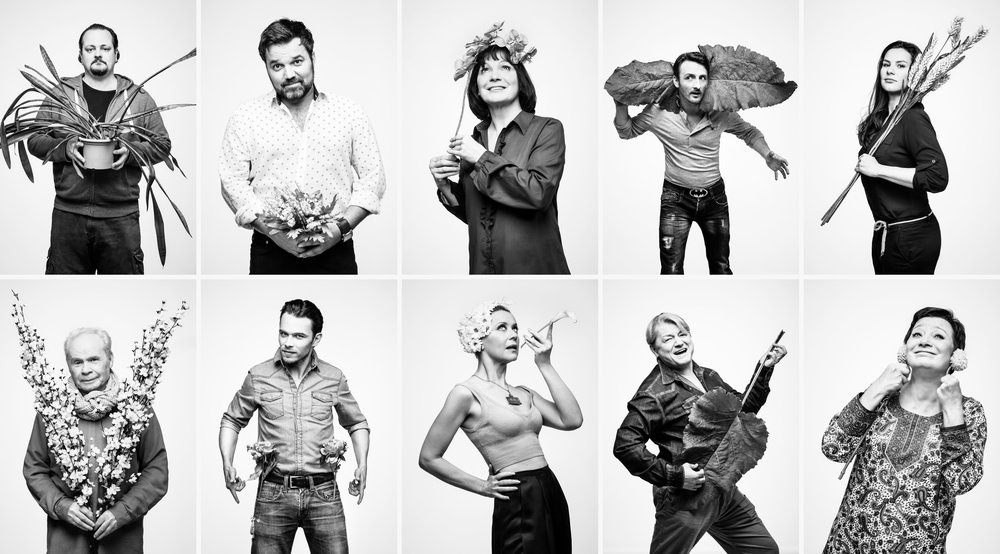 Víg Theatre ensemble photoshoot 2014 (detail)