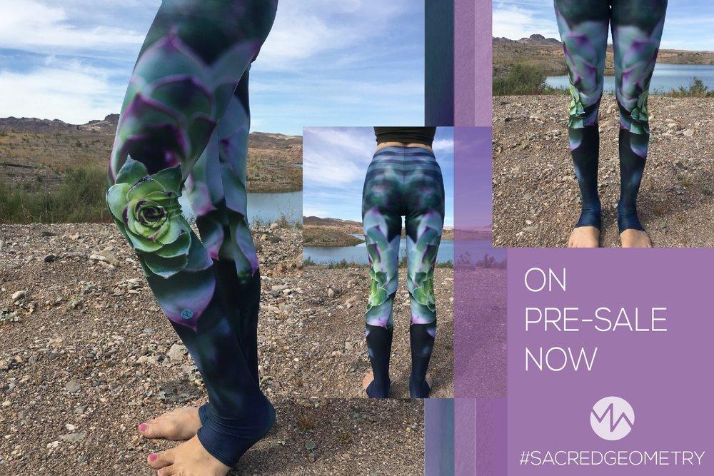 Sacred Geometry Succulent leggings