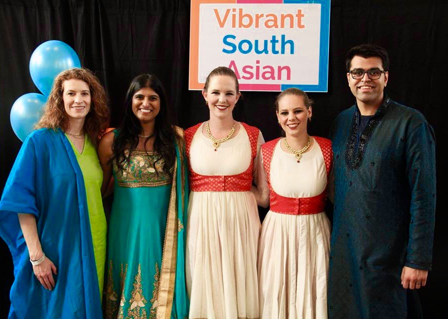 Sureela at the launch event for the up and coming non-profit Vibrant South Asian