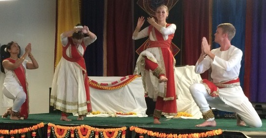 Performance at the Hindu Temple and Cultural Center of the Rockies for Rath Yatra