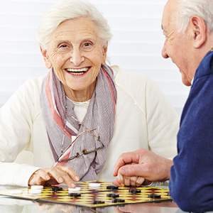 Older adult engaging in social activities
