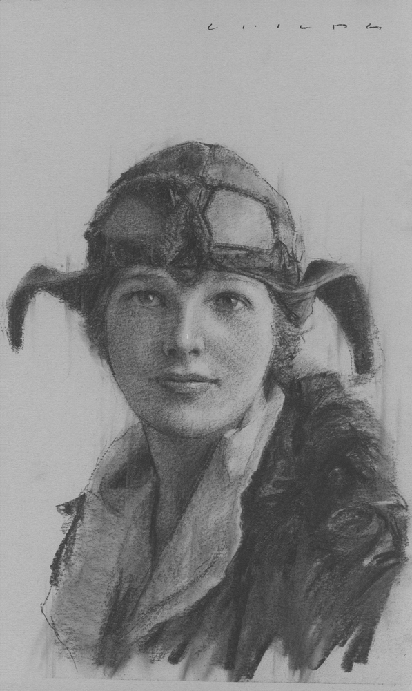 Amelia Earhart    Print Available from Studio550 Press