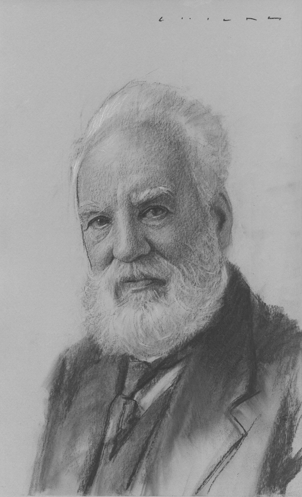 Alexander Graham Bell  Print Available from Studio550 Press