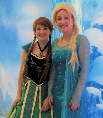 Phoenix Youth Theatre pupils as Frozen's Anna and Elsa