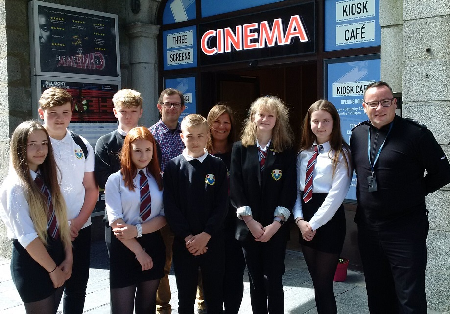 Harlaw Academy pupils at 'Choices for Life' premiere