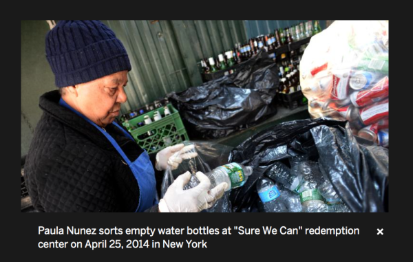 5/24/14 - alternet.org - by Brigitte Dusseau:  Canners' live off detritus of New York