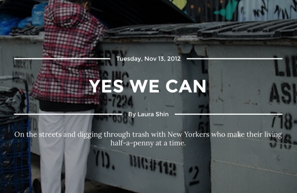 11/13/12 – Narratively – by Laura Shin :   Yes We Can