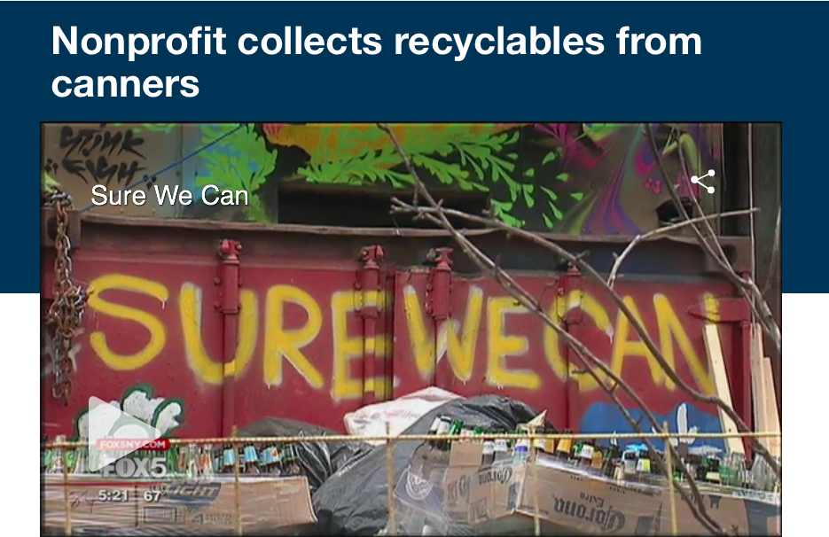 04/25/16 - Sure We Can in FOX News -  Nonprofit collects recyclables from canners