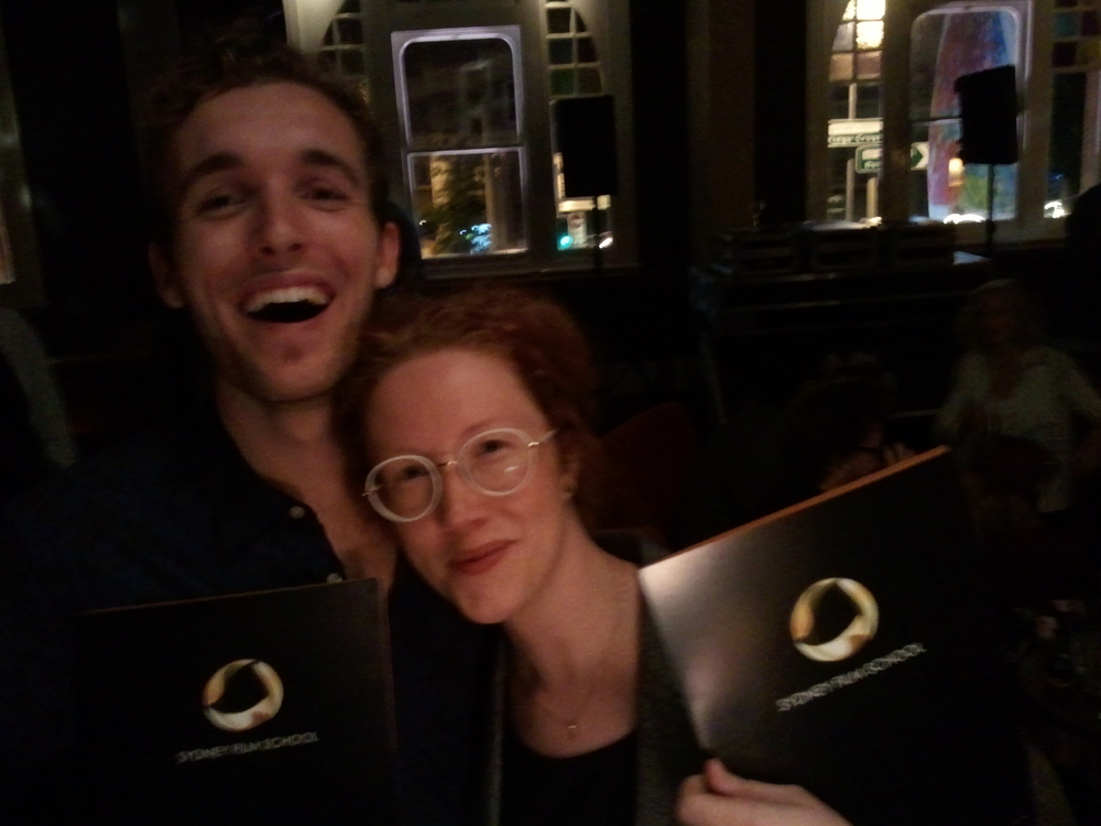 Me and Zac Threadgold with our awards!
