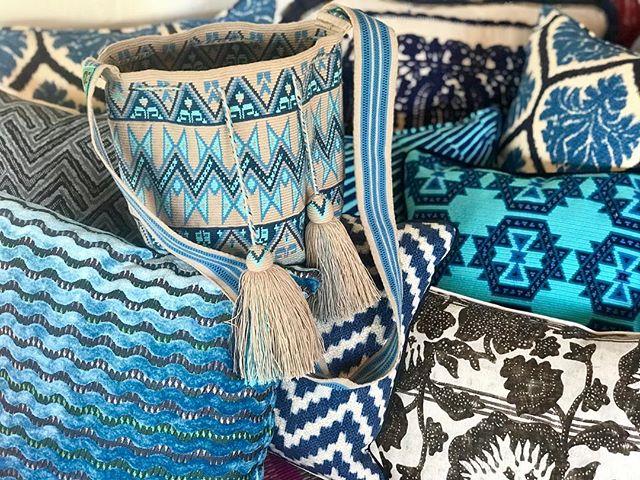 #simply the finest of its craft #benchmark  #handmadepillows #1/2 stitch authentic Mochila Wayuu #neverstray #alwaysethicallysourced #alwayspolished @polishedcoconut