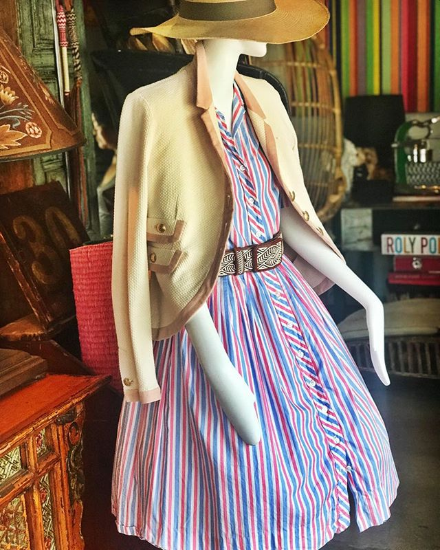 #classic @polishedcoconut #handmade hats #hand stitched Mexican rancher belts #vintage pique jackets @redvalentino #vintage Cuban cotton shirtwaist dress c.1960s #alwayspolished #ethicalfashion #slowfashion #artisan #bespoke
