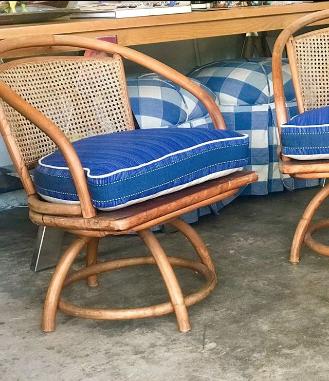 #gooverboard #our take on Miami Sailing Bacardi Regatta #for sale 4 cane vintage chairs with custom upholstery #upcycle #alwayspolished @polishedcoconut