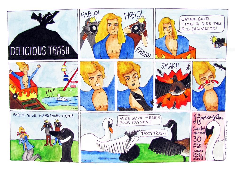 Delicious Trash - Fabio / comic / pen and watercolor / The Artist By Night