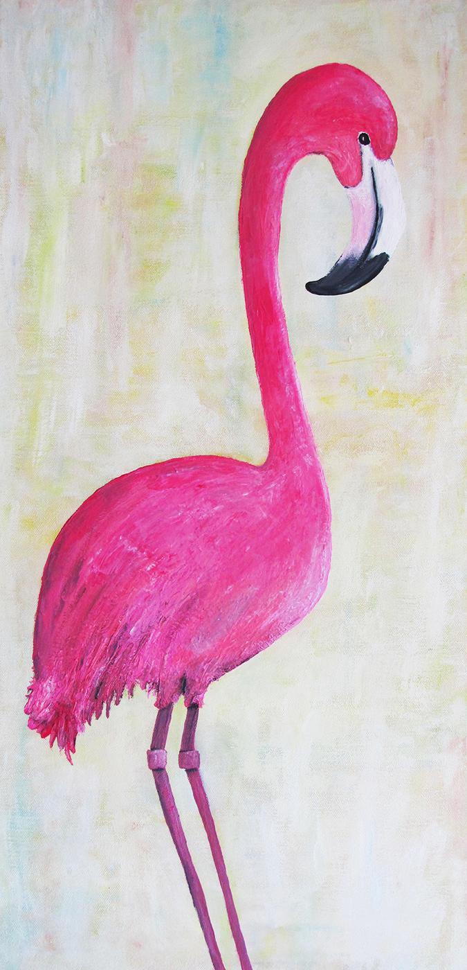 Pink Flamingo / acrylic / 2016