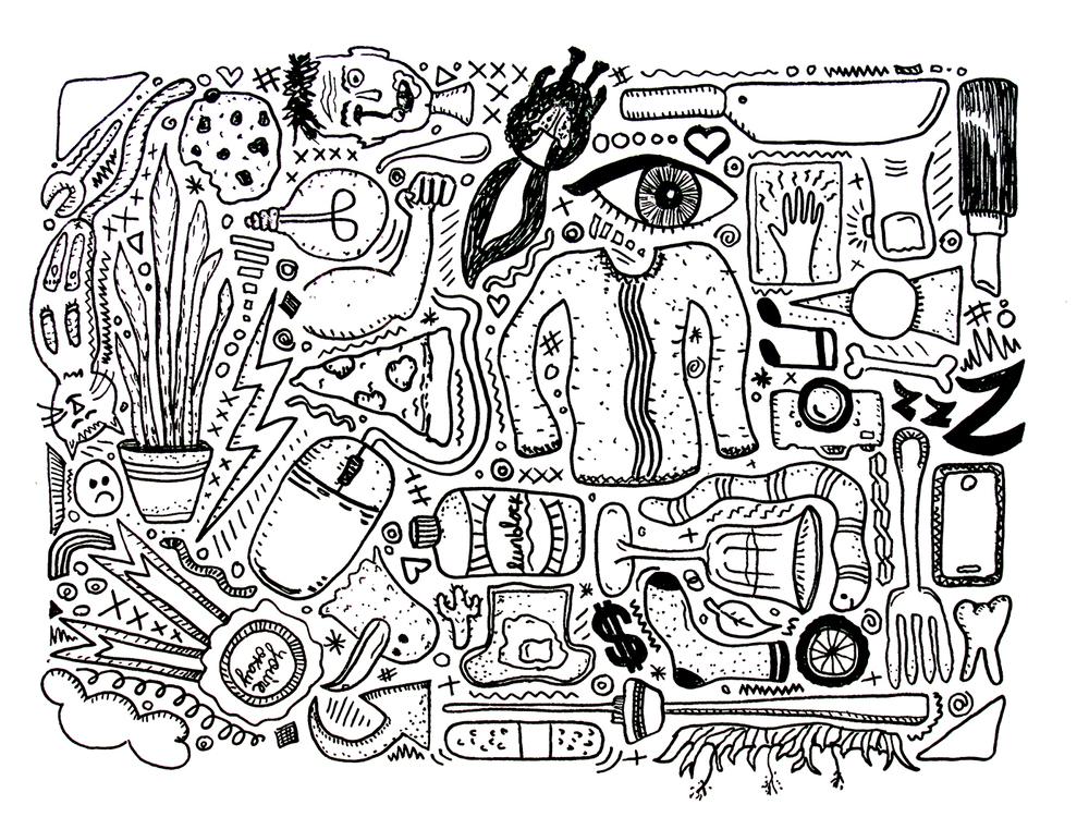Distraction Doodles / pen / 2016
