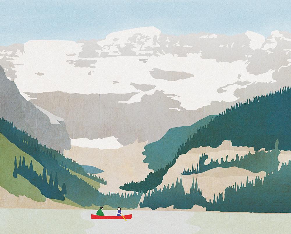 Lake Louise / digital illustration / July 2016