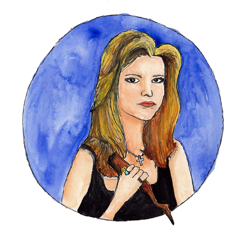 Buffy the Vampire Slayer   / watercolor / July 2016