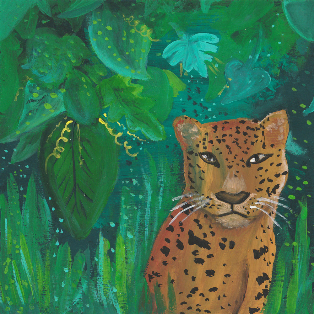 Jungle Cat  / gouache / July 2016