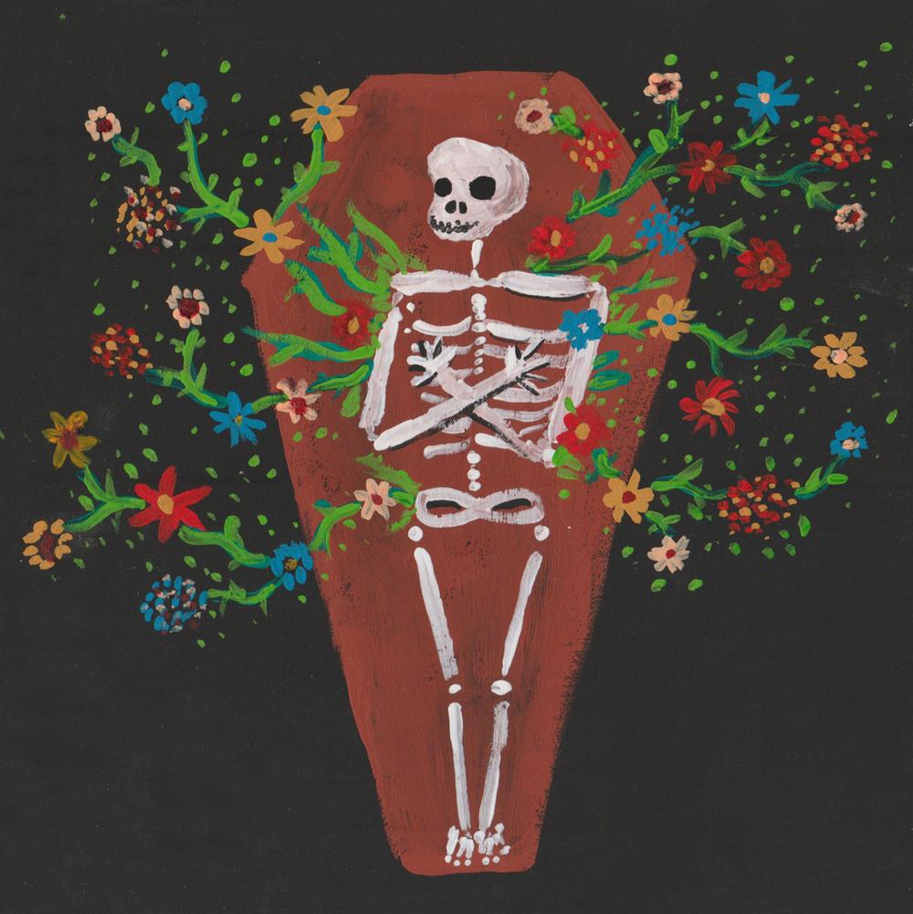 La Muerte  / gouache/ August 2016