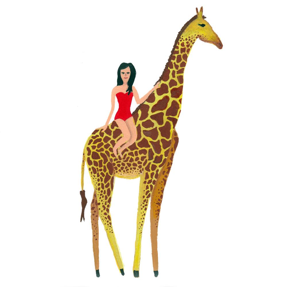 Giraffe Babe / gouache / October 2016