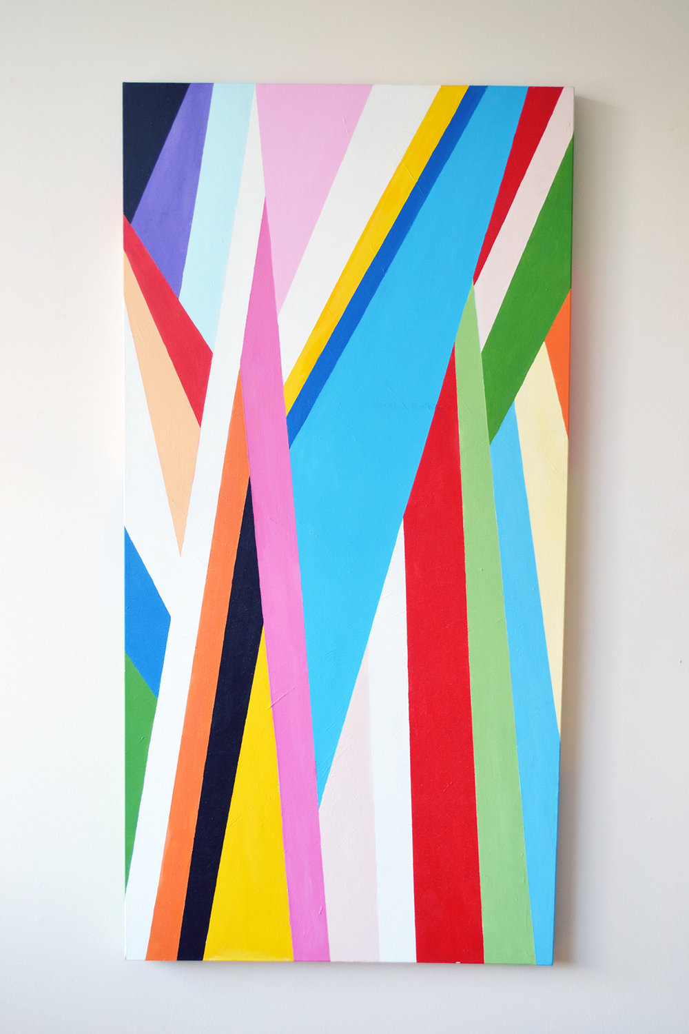 Untitled,  24x48 inches Acrylic on canvas