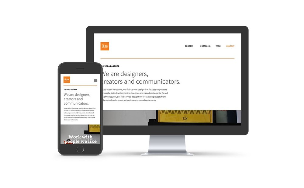 The Idea Partner Website - Design // Development // Custom Wordpress template