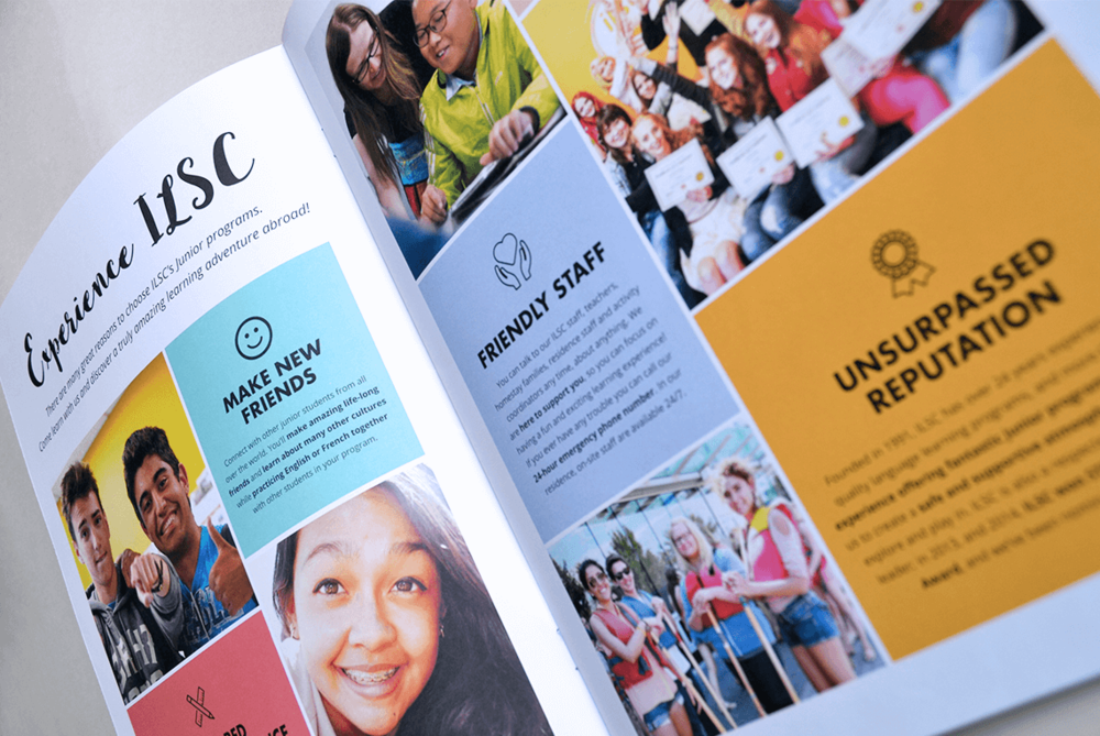 ILSC Junior Brochure - Design // Branding // Production