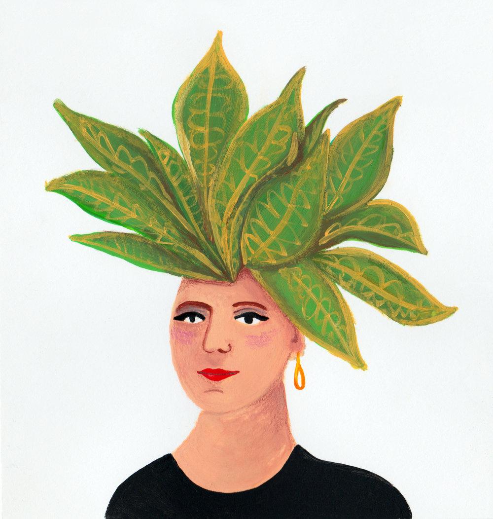 Lady Croton / gouache / October 2017