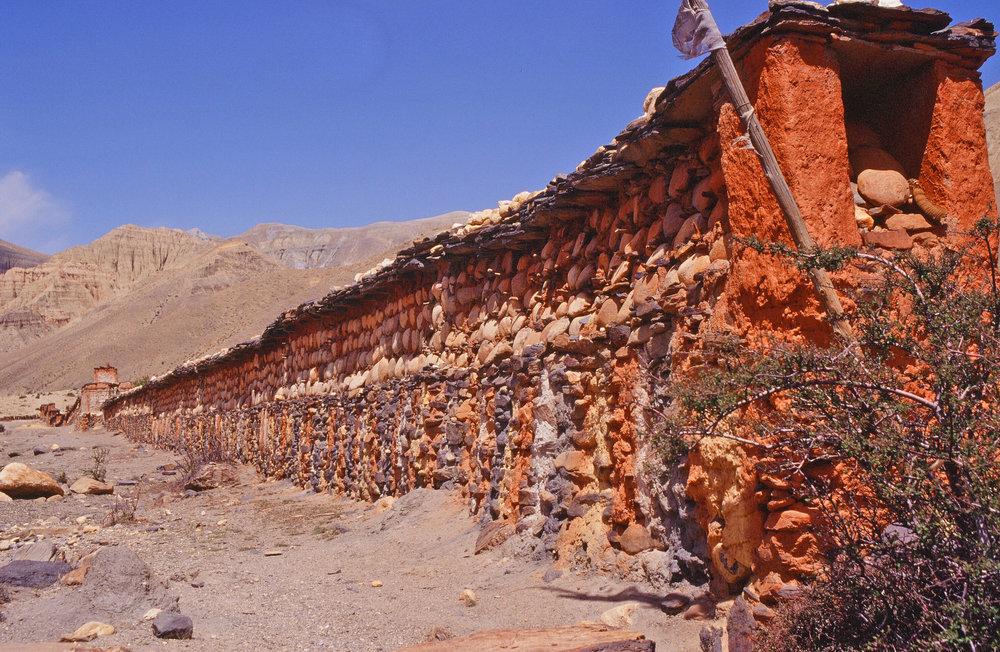 Mani wall, Mustang, Nepal