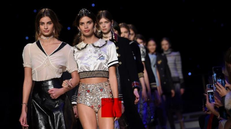 Tommy Hilfiger's New York Fashion Week final catwalk. Picture: AFP