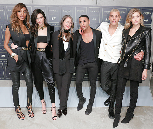 Olivier Rousteing, Creative Director of Balmain with his Balmain Army. Picture: The Star