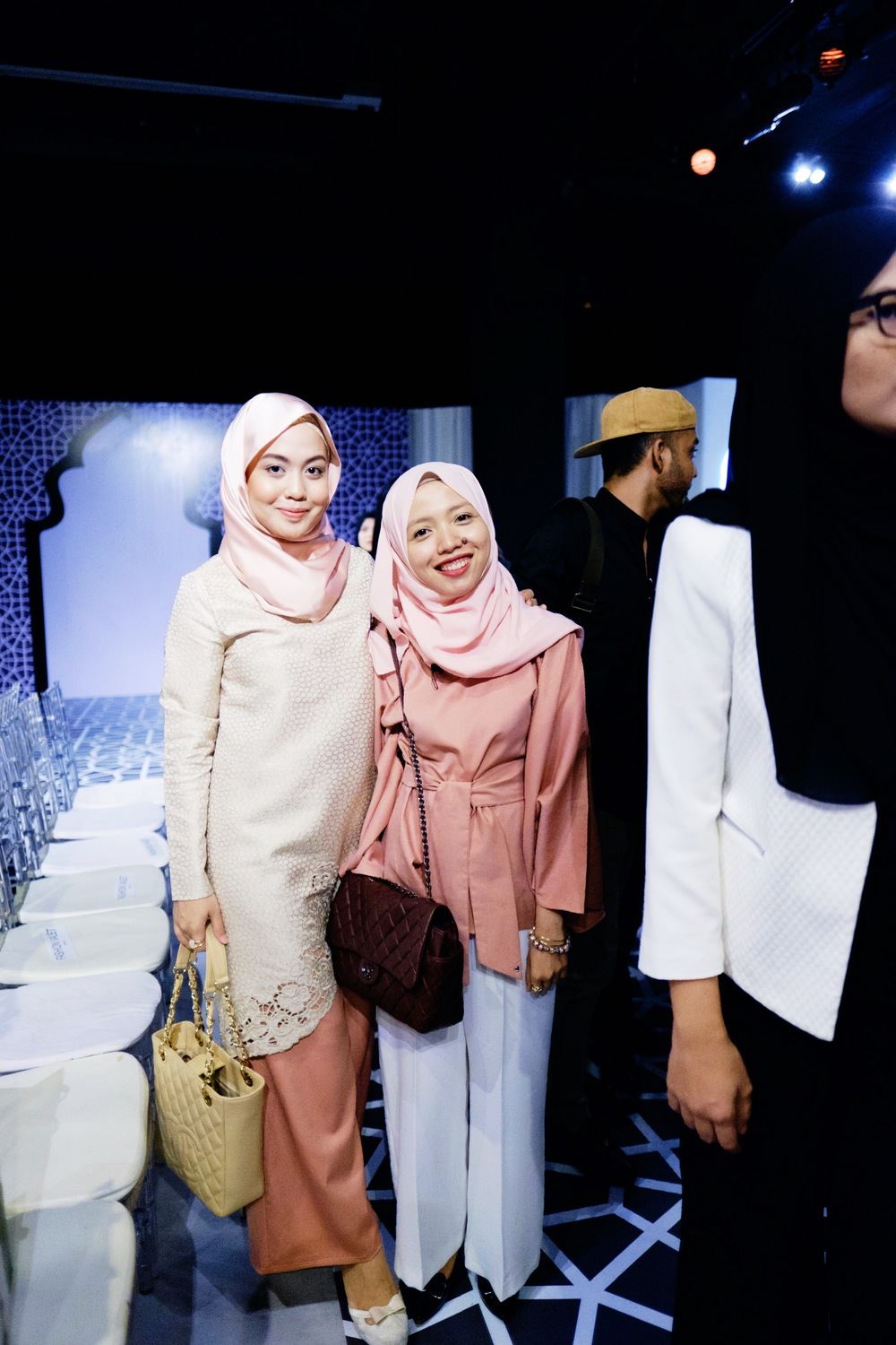 With my new friend, Dalillah Ismail, a fashion influencer from Singapore.