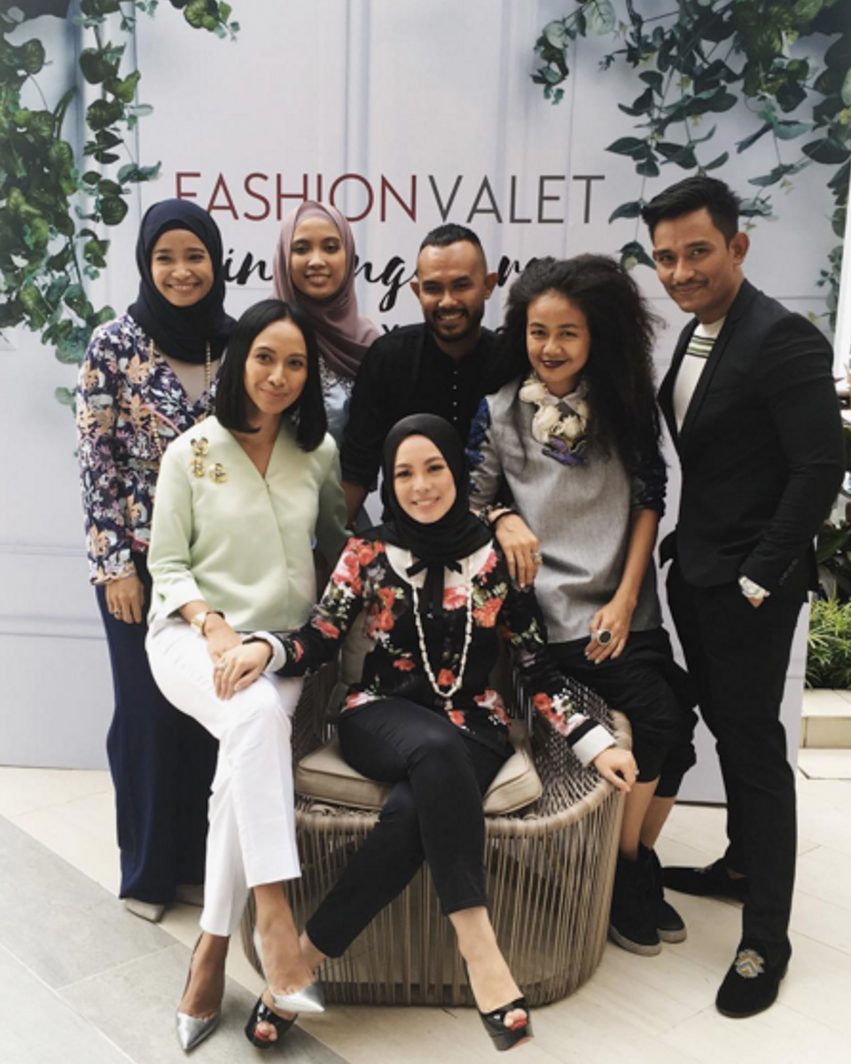 Designers showing support for Fashionvalet by joining the FV team in Singapore. Picture: @Fashionvaletcom
