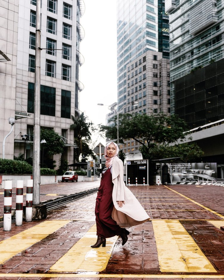 trenchcoat for rainy days - KL weather is unpredictable, and if it rains, I have to ensure that I stay ootd-ready