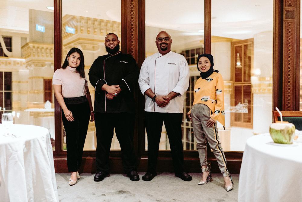 Chef Malik Al Jahdami and his sous Chef Tariq Al Bahlani,