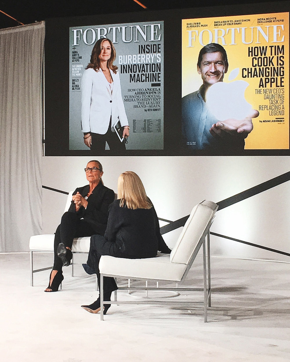 Angela Ahrendts was my favorite speaker. Such a smart woman.