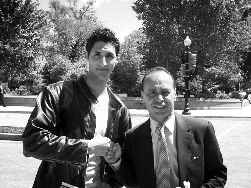 alonso chehade with congressman luis gutierrez.JPG